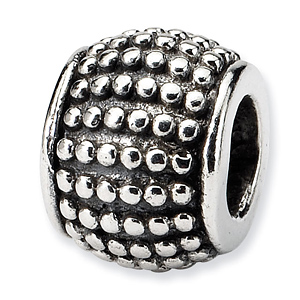 Sterling Silver Reflections Bali Bead with Beaded Texture