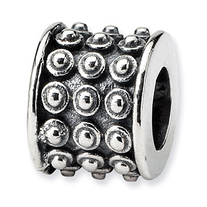 Sterling Silver Reflections Bali Bead with Rivets