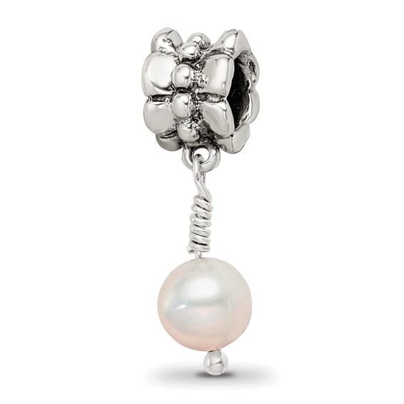 Sterling Silver Reflections Pink Cultured Pearl Dangle Bead