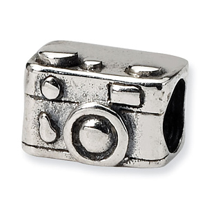 Sterling Silver Reflections Kids Camera Bead