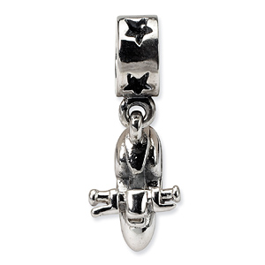 Sterling Silver Reflections Scooter Dangle Bead