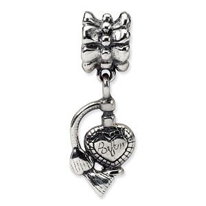 Sterling Silver Perfume Atomizer Dangle Bead