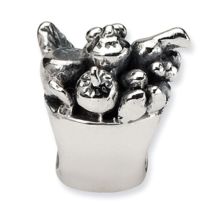 Sterling Silver Reflections Fruit Bowl Bead