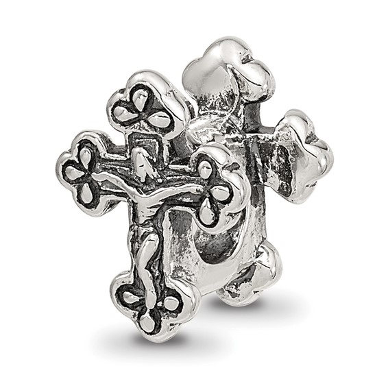 Sterling Silver Reflections Crucifix Bead