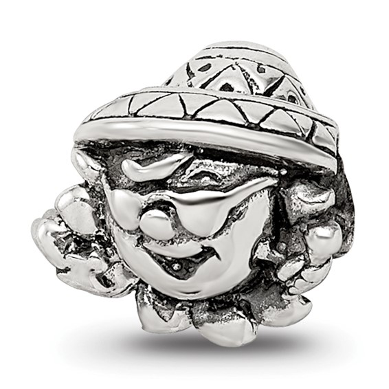 Sterling Silver Reflections Kids Clown Bead