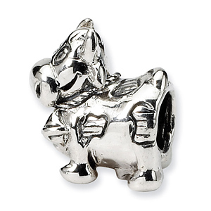 Sterling Silver Reflections Kids Cow with Bell Bead