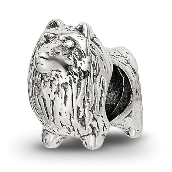 Sterling Silver Reflections Pomeranian Bead