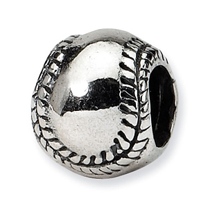 Sterling Silver Reflections Kids Softball Bead