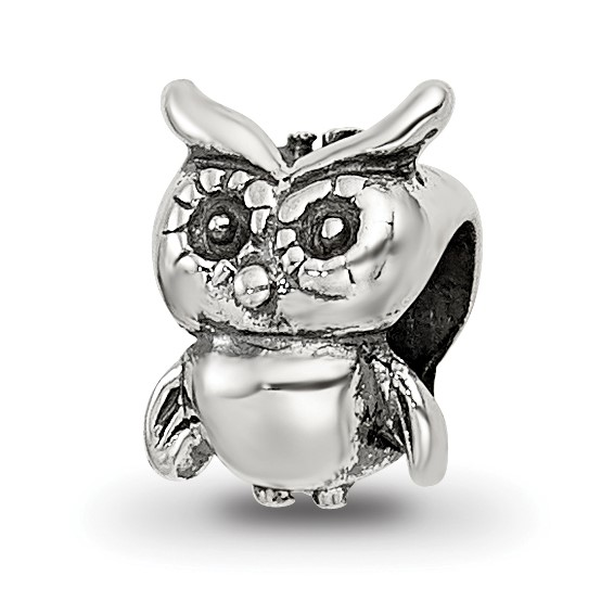 Sterling Silver Reflections Kids Owl Bead