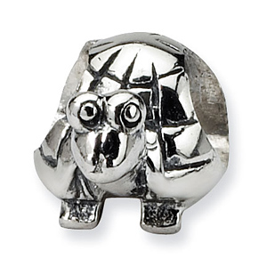 Sterling Silver Reflections Kids Turtle Bead