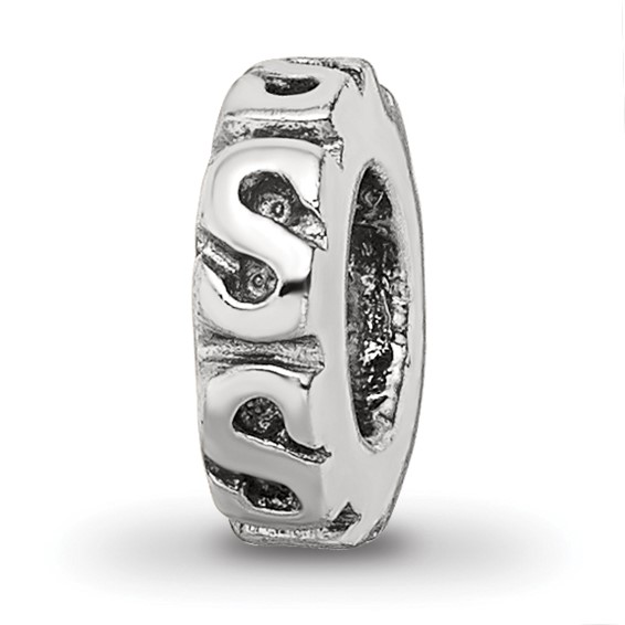 Sterling Silver Reflections Swirl Spacer Bead