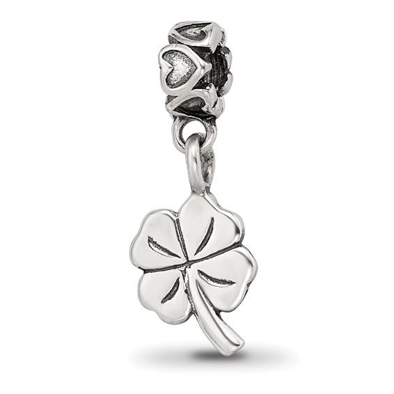 Sterling Silver Reflections Kids 4-leaf Clover Dangle Bead