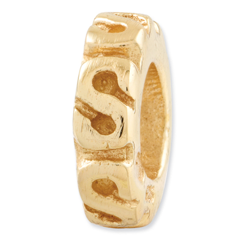 Sterling Silver Gold-plated Reflections Swirl Spacer Bead