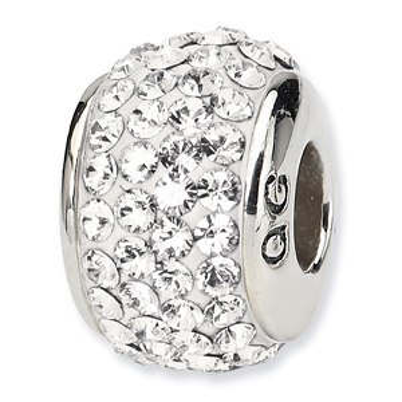 Sterling Silver Reflections April Full Swarovski Crystal Bead