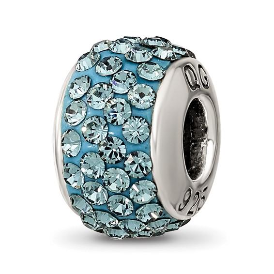 Sterling Silver Reflections December Full Swarovski Crystal Bead