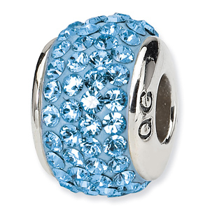 Sterling Silver Reflections March Full Swarovski Crystal Bead