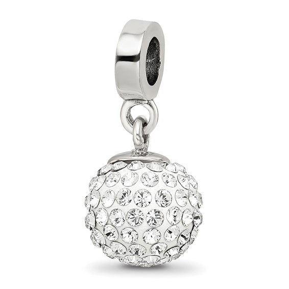 Sterling Silver Reflections Apr Swarovski Crystal Ball Dangle Bead