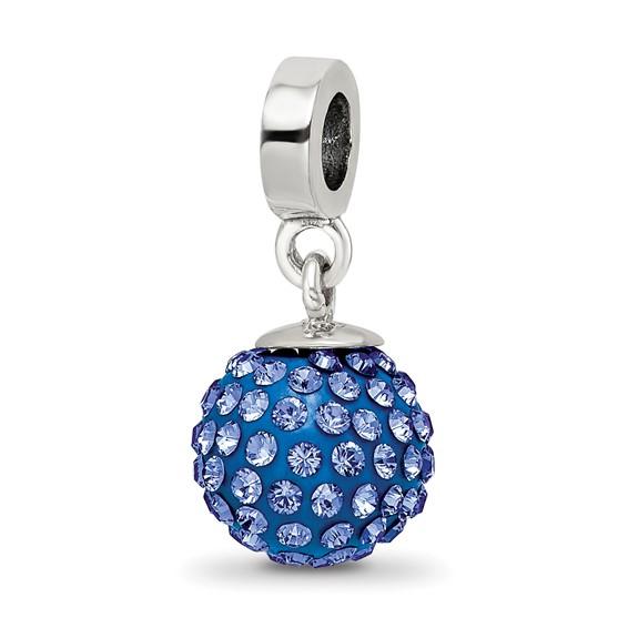 Sterling Silver Reflections Sept Swarovski Crystal Ball Dangle Bead