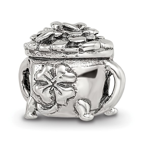 Sterling Silver Reflections Pot-of-Gold Bead