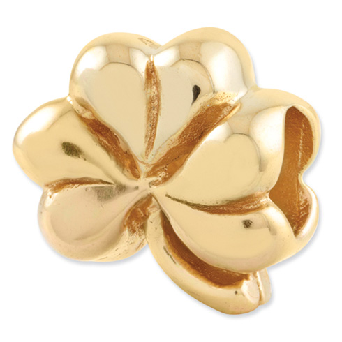 Sterling Silver Gold-plated Reflections Clover Bead