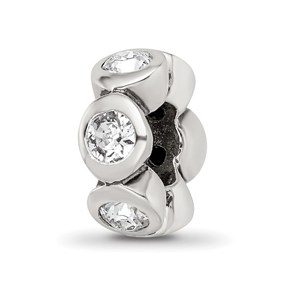 Sterling Silver Reflections Apr Swarovski Crystal Birthstone Bead