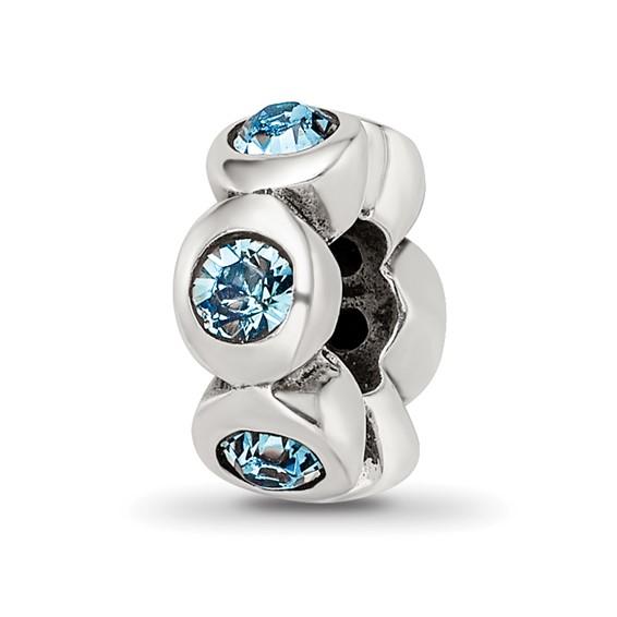 Sterling Silver Reflections Dec. Swarovski Crystal Birthstone Bead