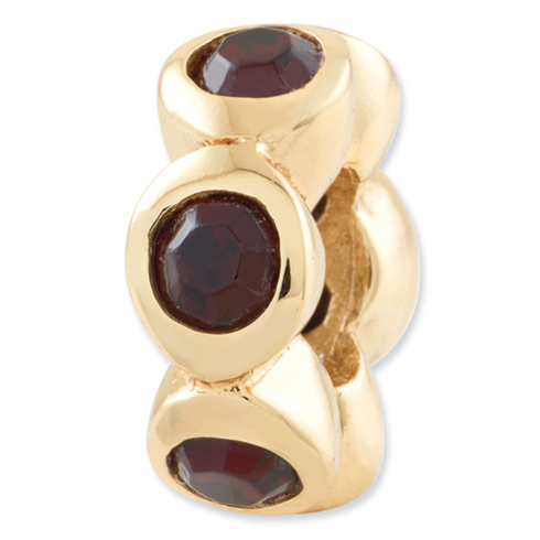 Sterling Silver Gold-plated Reflections Jun Swarovski Elements Bead