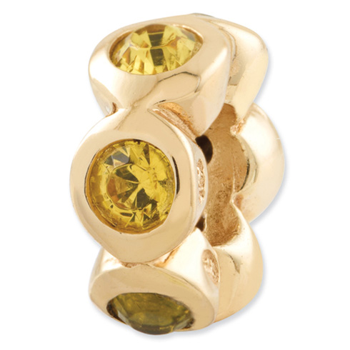Sterling Silver Gold-plated Reflections Nov Swarovski Elements Bead