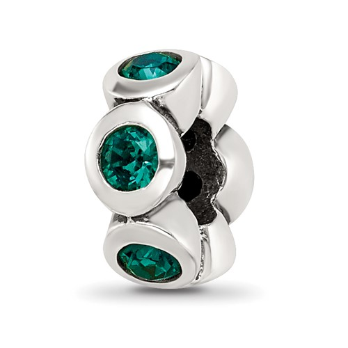 Sterling Silver Reflections May Swarovski Crystal Birthstone Bead