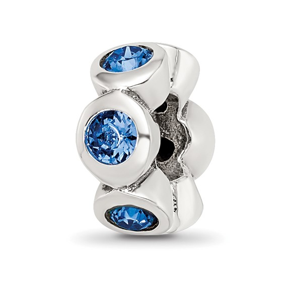 Sterling Silver Reflections Sept Swarovski Crystal Birthstone Bead