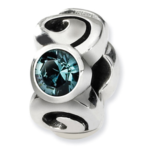 Sterling Silver Reflections December Swarovski Crystal Birthstone Bead