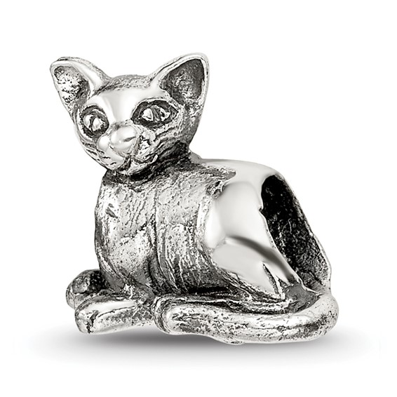 Sterling Silver Reflections Oriental Cat Bead