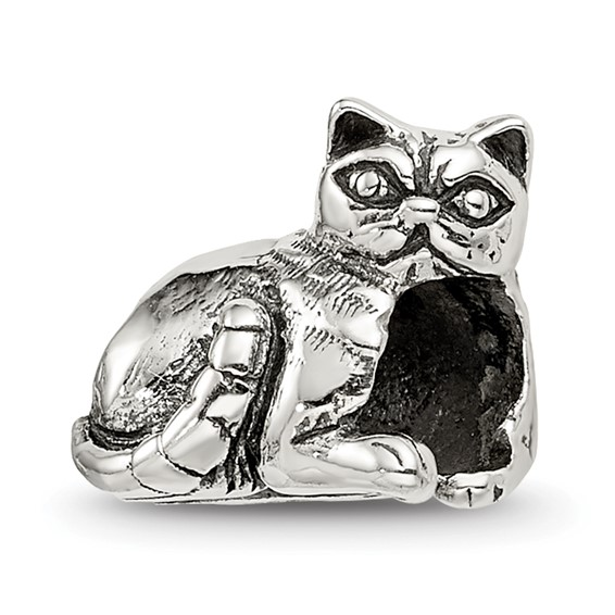 Sterling Silver Reflections Exotic Shorthair Cat Bead