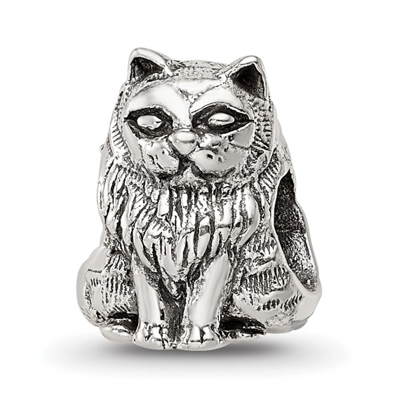 Sterling Silver Reflections Birman Cat Bead