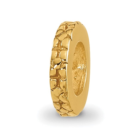 Sterling Silver Gold-plated Reflections Thin Floral Spacer Bead