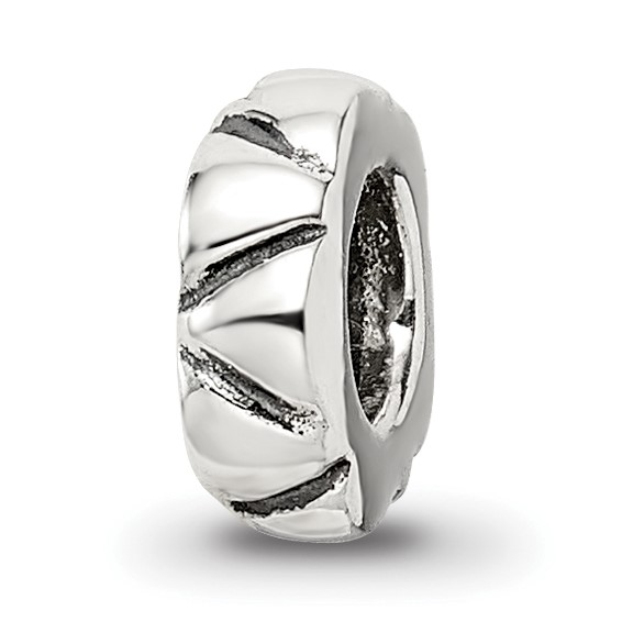 Sterling Silver Reflections Spacer Bead with Angled Notches