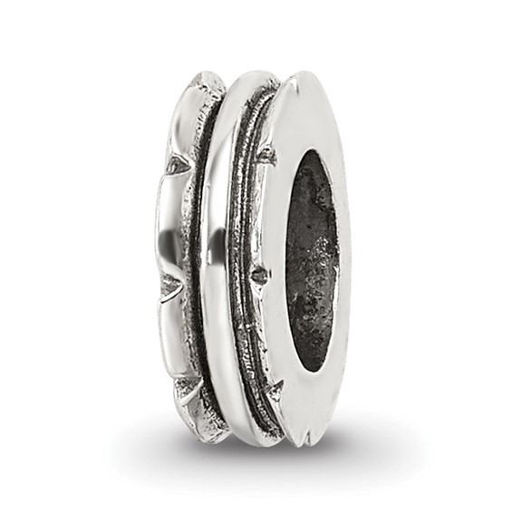 Sterling Silver Reflections Grooved Spacer Bead