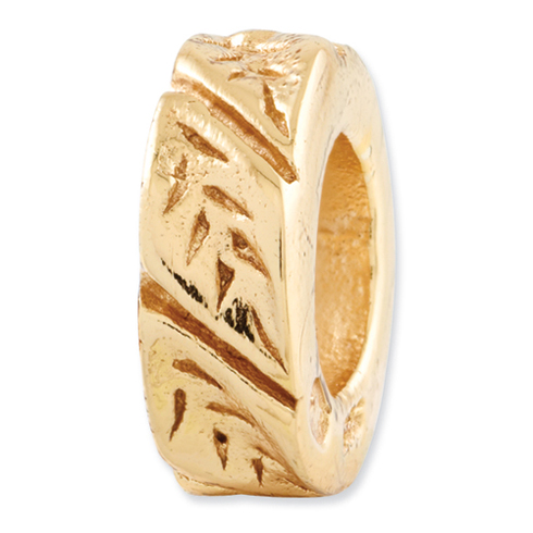 Gold-plated Sterling Silver Reflections Leaf Spacer Bead