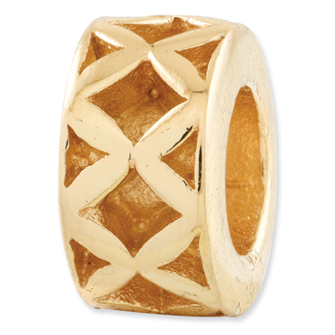 Sterling Silver Gold-plated Reflections X Spacer Bead
