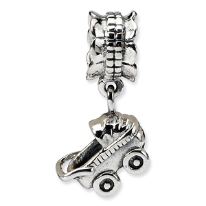 Sterling Silver Baby Buggy Dangle Bead