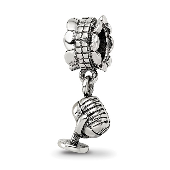 Sterling Silver Microphone Dangle Bead