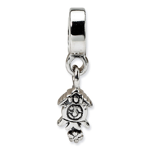Sterling Silver Reflections Cuckoo Clock Dangle Bead