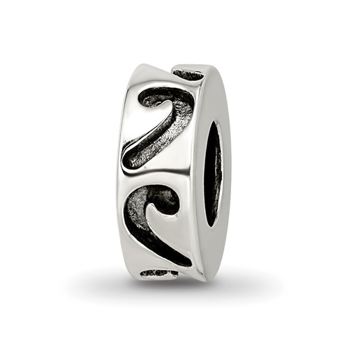 Sterling Silver Decorative Stopper Spacer