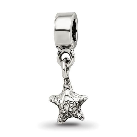 Sterling Silver Reflections Kids Starfish Dangle Bead