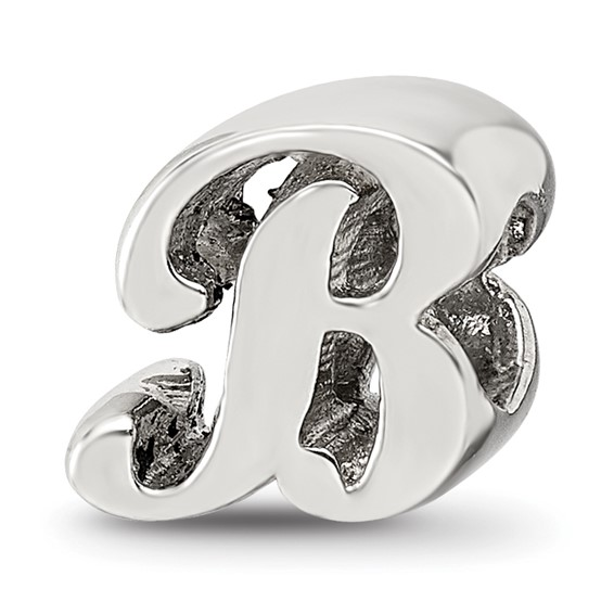 Sterling Silver Reflections Letter B Script Bead