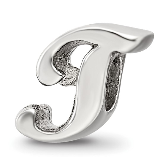 Sterling Silver Reflections Letter T Script Bead