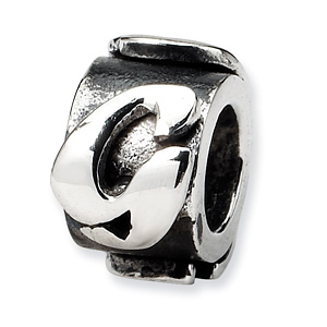 Sterling Silver Reflections Letter G Message Bead