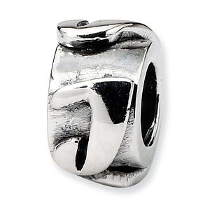 Sterling Silver Reflections Letter J Message Bead