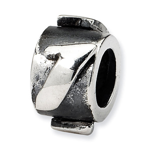 Sterling Silver Reflections Number 1 Message Bead