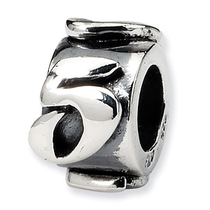 Sterling Silver Reflections Number 5 Message Bead
